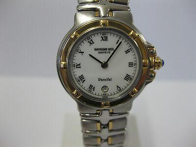 Ladies Raymond Weil Parsifal Stainless Steel & Gold Bracelet Watch 9990