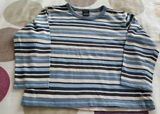 BOYS LONG SLEEVE TOP FROM NEXT SIZE 4 YEAR'S  BLUE STRIPED