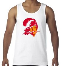 Tampa Bay Buccaneers NFL Vintage Logo White Tank Top Shirt Size Men's Small