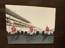 Helio Castroneves Rb Dario Franchitti Indy 500 Signed 8x10 Photo 2009 Front Row