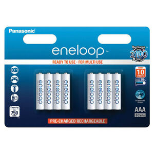 kQ Panasonic eneloop AAA Micro 8er Akku Set BK-4MCCE HR03 NiMh 1,2V 750mAh