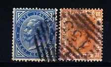 """ITALIA - Regno - 1877 - 10 cent. - 20 cent. Tipo """"Bigola"""" - Tiratura di Torino"""