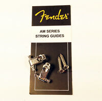 Genuine Fender American Series Strat/Tele Guitar String Guides - Chrome w/Screws