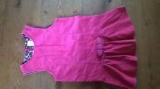 Designer Gymboree Dusty Pink Velvet Pinafore Drop Waisted Dress 4 years 104 cm