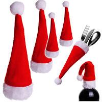 Set : Petit - Déco - Chapeaux de Noël - 19 cm - Sacs Couverts Porte-Couverts/E