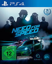 Need For Speed (Sony PlayStation 4, 2015, DVD-Box)
