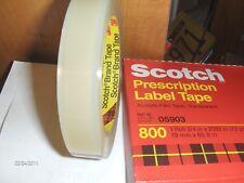 "2 rolls Scotch Prescription / all purp Label Tape, 3/4"" x 72 yd  Transparent"