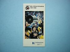 1991/92 MUTUAL LIFE OF CANADA NHL HOCKEY SCHEDULE MARIO LEMIEUX