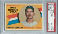 1960 TOPPS #121 CAMILO CARREON, PSA 8 NM-MT, CHICAGO WHITE SOX, ROOKIE,  L@@K !