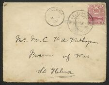 CAPE OF GOOD HOPE 1900 BOER WAR CENSORED COVER TO ST. HELENA.SCARCE. A577