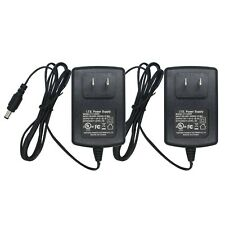 Ac to Dc 12V 2A Power Supply Adapter 5.5mm x 2.1mm for Cctv Camera Dvr 2-Pack