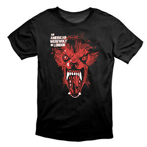 An American Werewolf In London Version 2 Scary Horror T Shirt Black