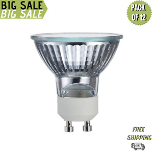 Sterl Lighting Pack of 12 MR16 Halogen Light Bulb 50W/120V GU10 Twist N Lock