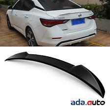 For 2020-2021 Nissan Sentra Gross Black Rear Trunk Spoiler Wing