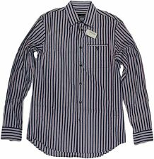 D SQUARED RED, WHITE & BLUE STRIPED MEN'S SHIRT-SIZE 48/38US-MADE IN ITALY