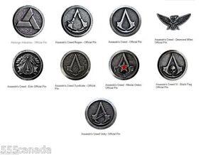 Assassins Creed Official Pin Limited Edition Collectors Set - 9 Pins - Origins