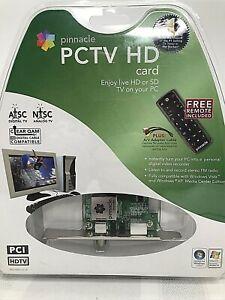 Pinnacle Systems 8230-10023-51 PCTV HD Card Watch TV on PC Record w/ Remote NIB