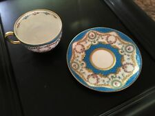 Antique Decorative Staffordshire Minton Tea Cup and Saucer. Rare.