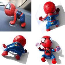 Windows Mirror Decor Car Decoration Suction Cute Cartoon Spider Man Hero Doll