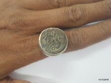 vintage antique tribal old silver ring coin ring Mughal Empire Copper Coin