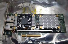 Dual RJ45 10 GBase-T 10GbE iSCSI FCoE PCI-E x8 W1GCR de Dell QLogic Broadcom 57810S