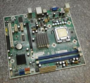 HP 464517-001 480429-001 MS-7525 VER:1.0 Minitower Socket 775 Motherboard & CPU