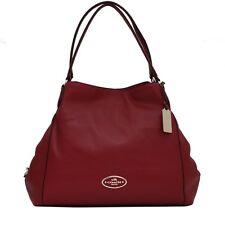 NWOT COACH 33547 RED CURRANT REFINED PEBBLED LTHR EDIE SHOULDER BAG