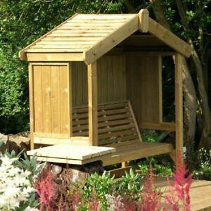 3 seater garden cottage arbour