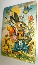KUBASTA DER OSTERHASE UND SEINE FREUNDE POP UP Klappbuch Pappe NR. 106 , 60er J.