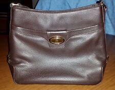 Etienne Aigner Vintage Dark Brown Leather Shoulder Bag