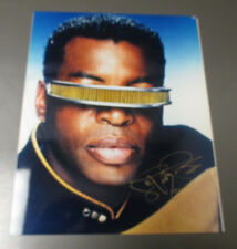 STAR TREK Next Generation SIGNED LeVar Burton Geordi La Forge 8x10 Glossy