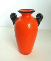 Loetz Art Glass Vase Orange Tango Michael Powolny 1918-1920s Wiener Werkstatte