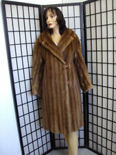 Mint Plain Brown Canadian Muskrat Fur Coat Jacket Women Woman Size 6-8 Small