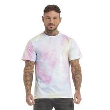 GINGTTO Tie Dye T Shirt Top Men Slim Fit Summer Short Sleeve Camouflage Tee