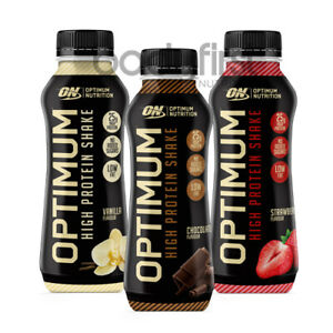Optimum Nutrition High Protein Ready To Drink Shake Case of 10 (330ml / 500ml)