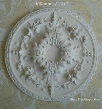 "Plaster Ceiling Rose Large Beautifull  610mm / 24"" "" Handcrafted CR35"
