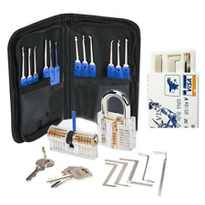 24 Pcs Unlocking Lock Pick Set Key Extractor Transparent Practice Padlock Tool