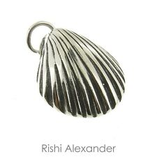 925 Sterling Silver Beach Sea Shell Charm Made in USA