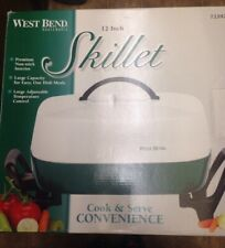 """~~NEW~~ VINTAGE STYLE WEST BEND 12"""" ELECTRIC SKILLET Non-Stick Surface #72292"""