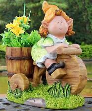 Eva Gnome on Tricycle Planter Plant Pot Garden Ornament - Great Gift Idea!