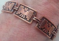 Copper Bracelet  Linked Wheeler Thunderbird Arthritis Healing Folklore cb 246