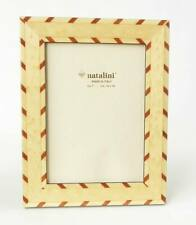Brown Tulipwood Natalini Marquetry Photo Frame Made in Italy 8X 10