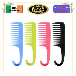 Wide Tooth Shower Hair Comb With Hook Wide Teeth Detangling Comb