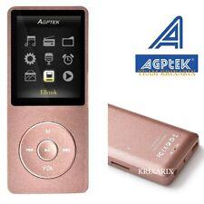 """AGPTEK A02 ROSA lettore MP3 8GB 1.8"""" Radio FM Registratore  Supporta fino a 64GB"""