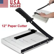 "Paper Cutter 12"" A4 To B7 Metal Base Guillotine Page Trimmer Blade Scrap Booking"