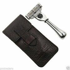Parker Mach3 Compatible Travel Razor & Leather Case