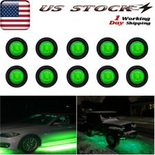 10x Green Led Rock Lights For Jeep Truck Off-Road Atv Suvs Utv Underbody Light