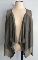 CAbi Women's Size M Drape Open Front Cardigan Long Sleeve Gray