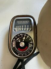 Vtg Weston Master III Universal Light Exposure Meter Model 737 W/ Leather Case