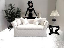 1/6 scale Shabby Chic upholstered sofa Barbie FR Monster Hi